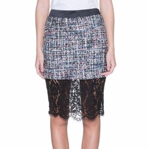 NEW English Factory Twill Skirt with Lace